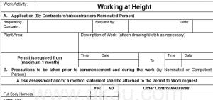 Ijin Kerja (Permit to Work)