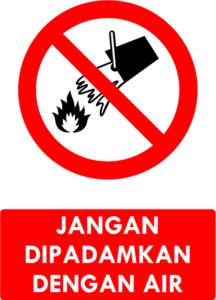 Jangan Dipadamkan Dengan Air