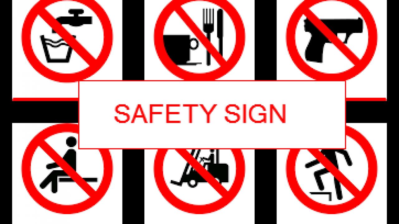 Kumpulan Rambu Larangan K3 Safety Sign Ak3u
