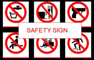 Kumpulan Rambu Larangan K3 (Safety Sign)